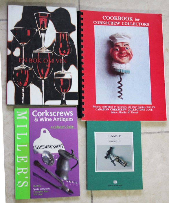 books and magazins showing corkscrews