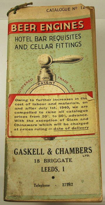 rare Gaskell & Chambers catalog ca 1920 with many bar screws