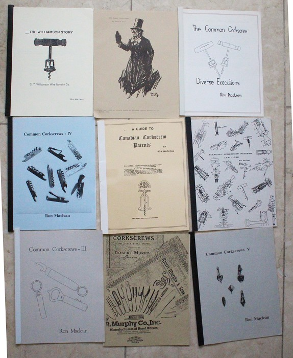 9 papers on American and Canadian corkscrews