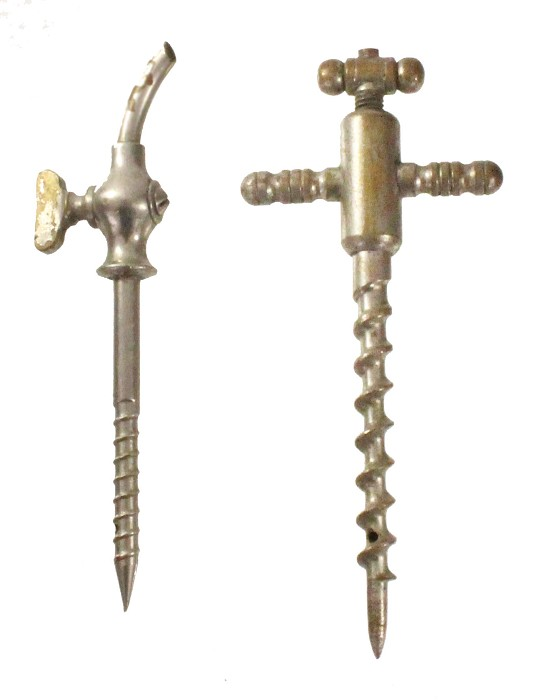 2 champagne taps from the USA ca 1900