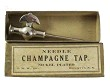 needle champagne tap with box, nickle [plated, G. M. W Inc