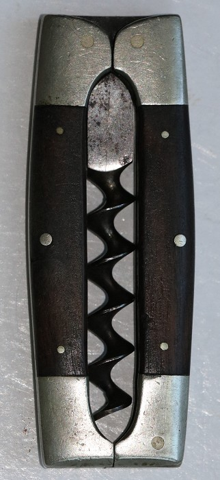 19th Century German Pocket Corkscrew with Rosewood Scales
