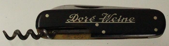 German corkscrew with J hook sliding corkscrew and advertise
