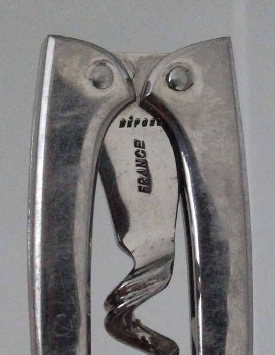 Folding art deco French corkscrew marked DÉPOSÉ