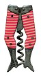 1894 Gay Nineties Legs Corkscrew - Pink/White stripes