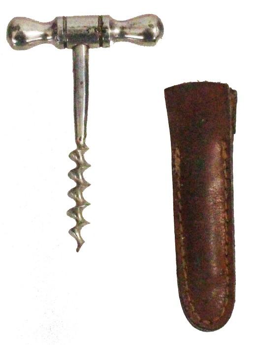 miniature T screw with steel handle and etui, German, 5cm