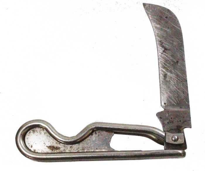 Patented US knife marked WIRE BACK PAT 2-21-26