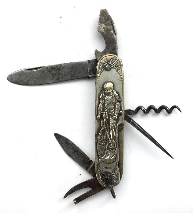 CORKSCREW FRENCH KNIFE CYCLIST RUNNER 1900 CAVATAPPI KORKENZ