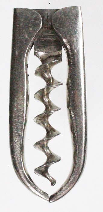 German folding corkscrew with all nickle-plating