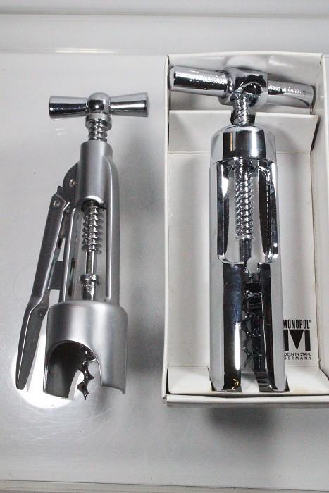 Three Mechanical corkscrews