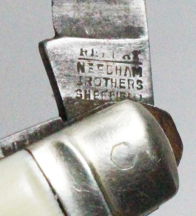 English horseman's knife marked REPEAT NEEDHAM