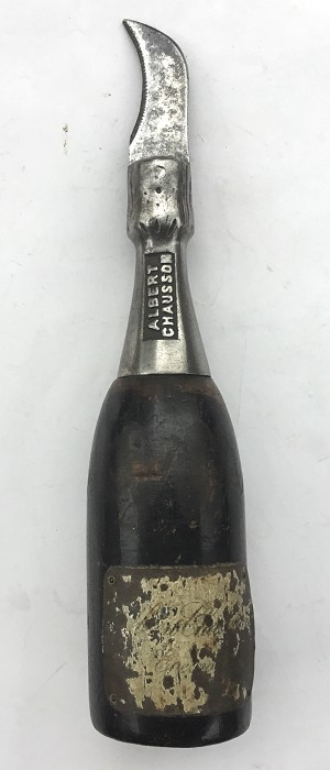 FRENCH FIXED BLADE CHAMPAGNE BOTTLE ALBERT CHAUSSONS EPERNAY