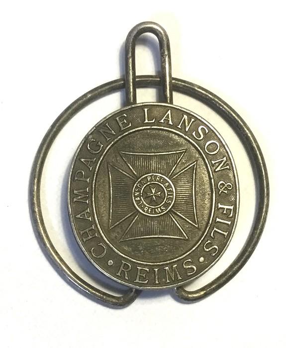 MONEY CLIP ADVERTISING CHAMPAGNE LANSON & FILS REIMS