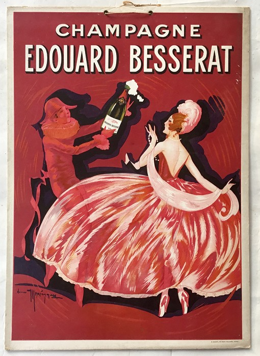ADVERTISING POSTCARD CHAMPAGNE  ÉDOUARD BESSARAT 1950