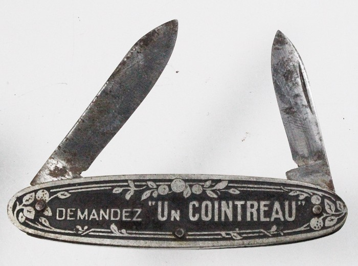 French knife advertising COINTREAU (no corkscrew)