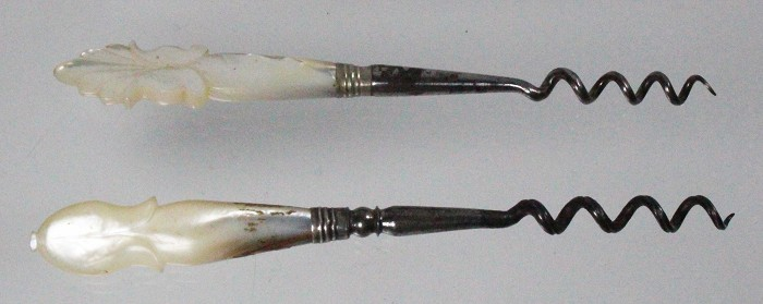 2 ladies screw with mother of pearl handles
