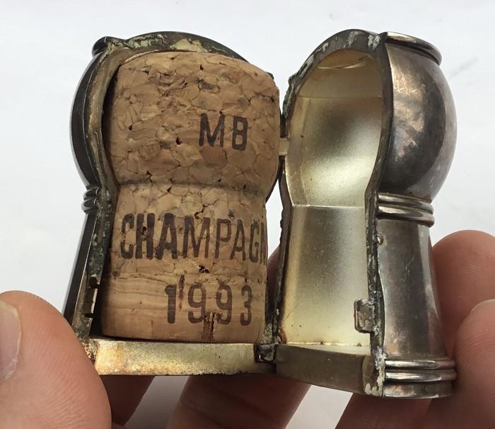 CHAMPAGNE CORK BOX DOM PERIGNON 31 DÉCEMBRE 1999 CHRISTOFLE