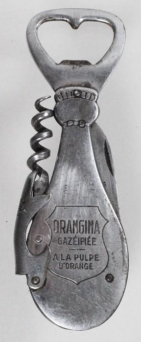 waitersfriend/knife with cap lifter advertising ORANGINA