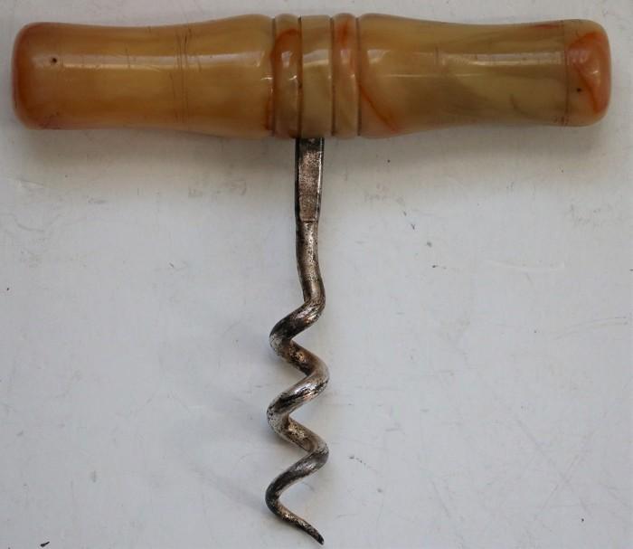 Butterscotch Celluloid Roundlet Corkscrew