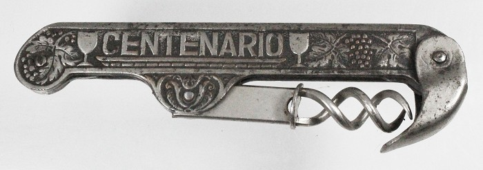 Corkscrew with double helix from Argentina marked CENTENARIO