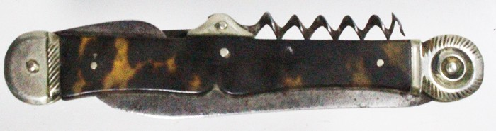 Decorative German knife ca 1890 with tortoise shell scales