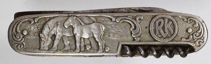Rare German horseman's knife marked RK and EHRENGABE