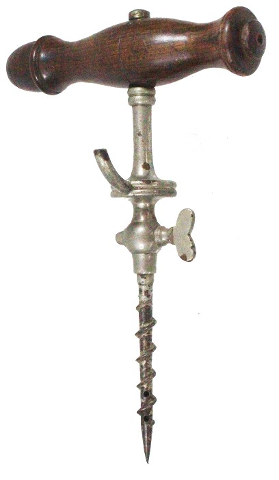 English champagne tap, typical button