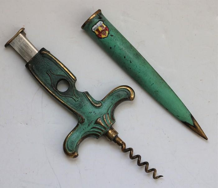 German Letter Opener, Cigar Cutter & Corkscrew - Bielefeld