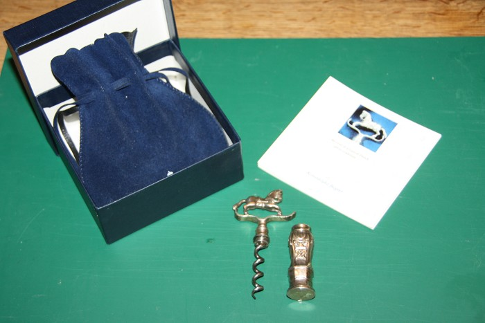 Dutch Silver Rocking Horse Corkscrew