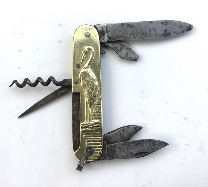 CORKSCREW KNIFE COURSOLLE TYPE HUNTER HERON STORK