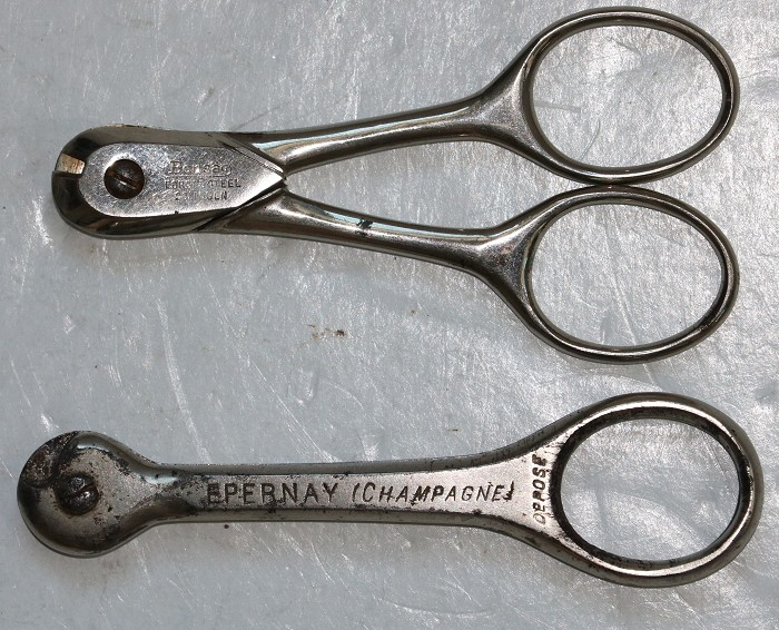 Two Champagne Wire Cutters