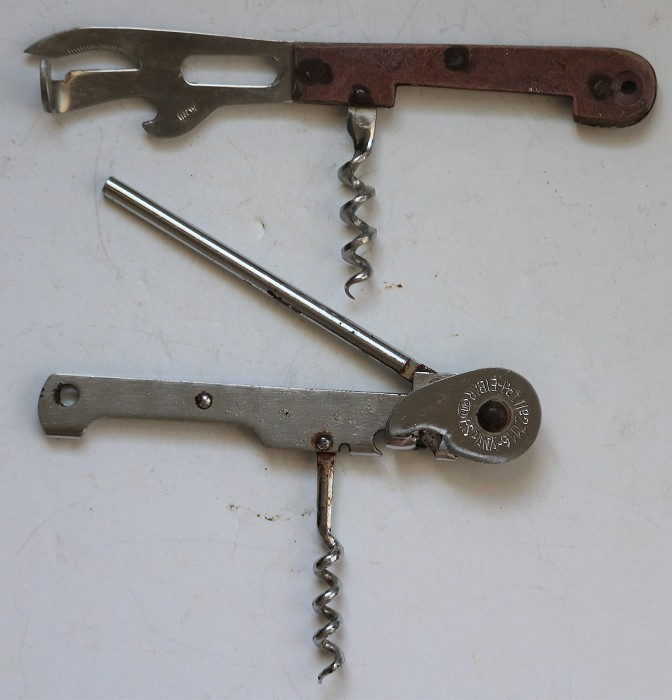 Three Can Opener & Corkscrew Combination Tools