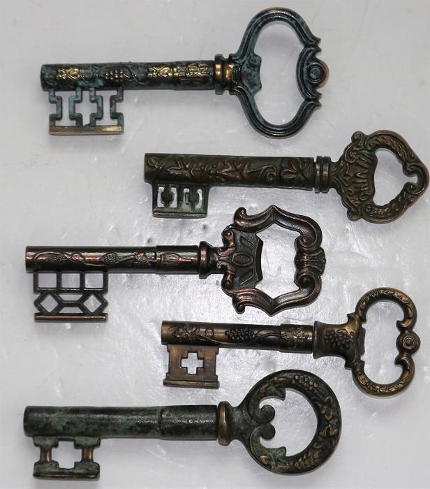 Five German Corkscrew Keys