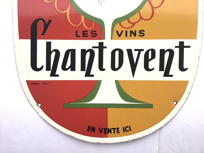 OLD FRENCH PLATE FORCE GAITÉ LES VINS CHANTOVENT EN VENTE IC