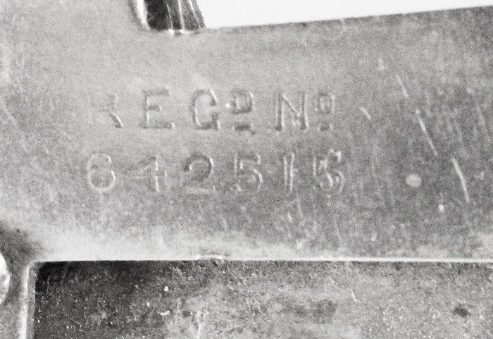 Very rare knife marked REGd No. 642515 (even not in Ellis)