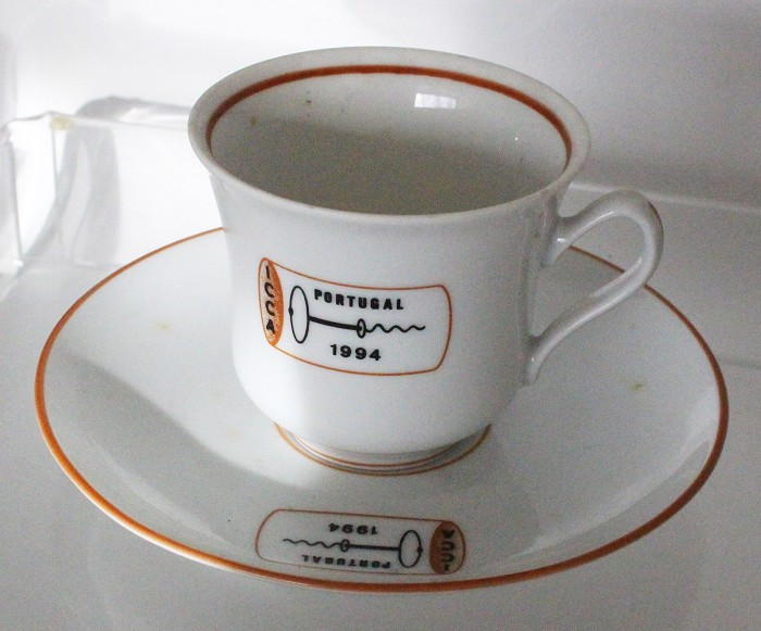 Cup marked ICCA PORTUGAL 1994, present ICCA meeting 1994