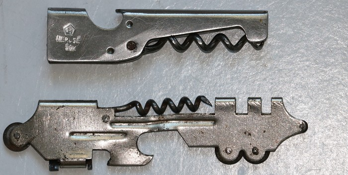Collection of Five Small Corkscrew Combination Tools.