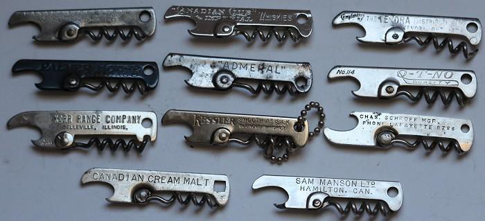 Twenty One Vaughan Patent Corkscrews + You Pay Spinner