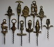 Collection of Eleven English Brass Figural Corkscrews
