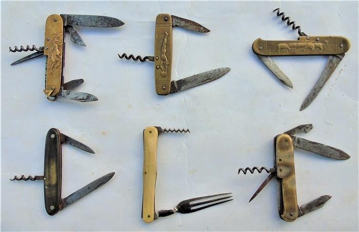 CORKSCREW FRENCH FIGURAL KNIFE FORK LOT 7