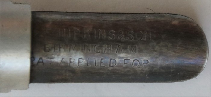 English Patent Hipkins & Sons Pat # 2,785 dated Feb. 5, 1903