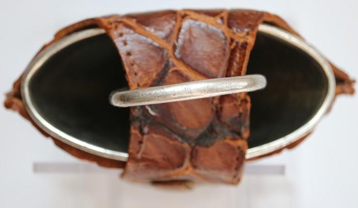 Sterling Silver Funnel & Corkscrew in Leather Case