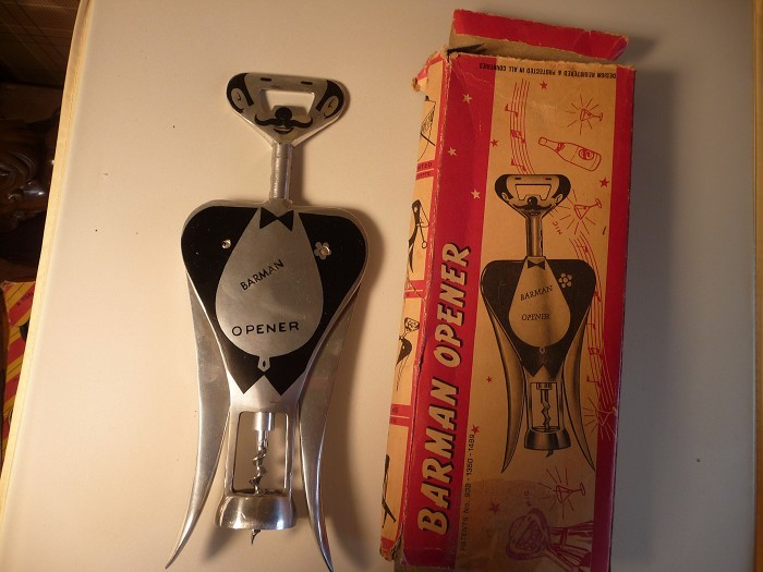 Gemelli Figural Barman Corkscrew near mint in the red box