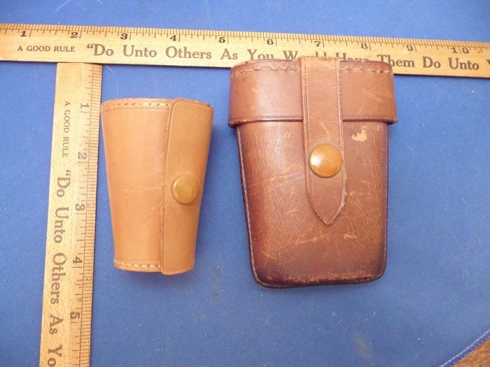 LOT OF TWO TRAVELING KITS N LEATHER CASES ONE MARKED GERMANY