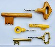 FRENCH CORKSCREW WOOD KEY G.SIMON MEUBLES ASNIERES CAVATAPPI