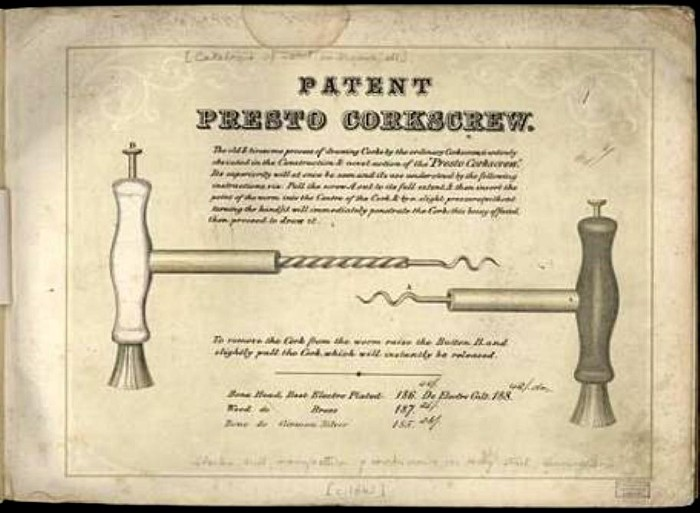 the rare 1865 Charles Hull, Birmingham, corkscrew The Presto