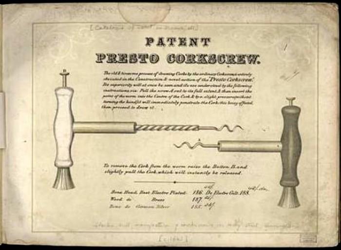 the rare 1865 Charles Hull, Birmingham, corkscrew The Presto