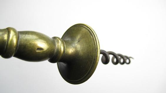 HENSHALL Type Brass Button Corkscrew