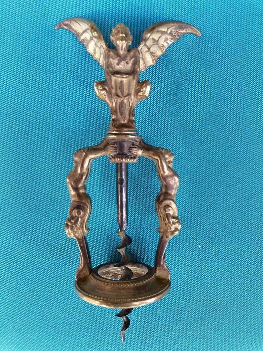 Antique Figural Frame Devil Satry Frame Corkscrew