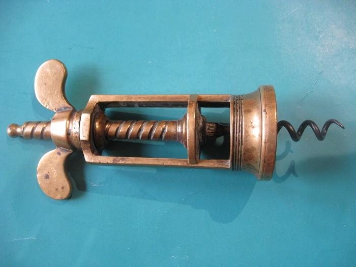 Farrow and Jackson type Brass Corkscrew.
